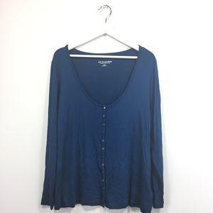 New Soft Surroundings Large Cardigan Blue